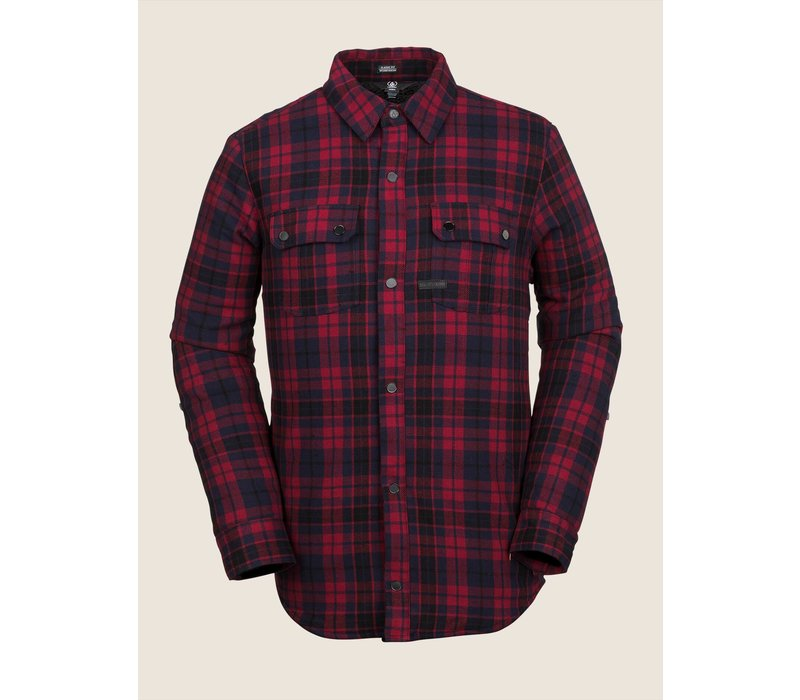 Volcom Sherpa Flannel Jacket Red