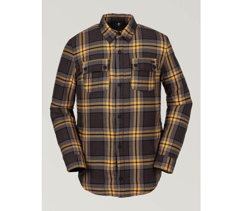 Volcom Sherpa Flannel Jacket Vintage Black