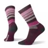 Smartwool SmartWool Women's Hike Medium Striped Crew Bordeaux Medium
