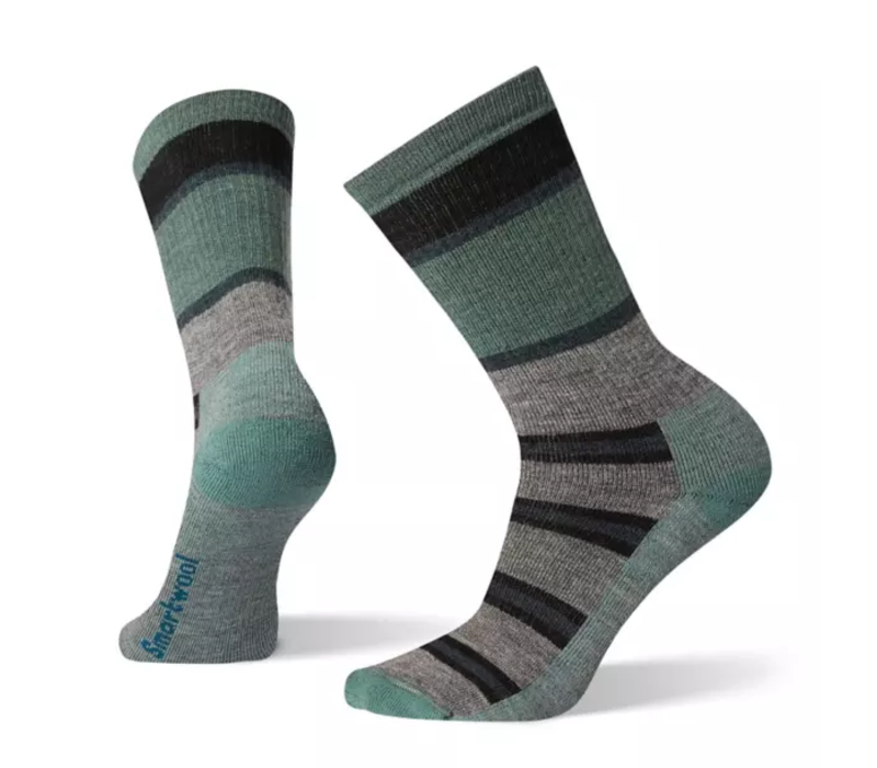 SmartWool Hike Medium Stripe Crew Medium Gray Large