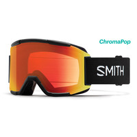 Smith Squad Goggle Black Chromapop Everyday Red Mirror
