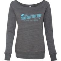 Third Coast Women's Sponge Fleece Wide Neck Crew