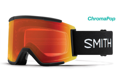 Smith Smith Squad XL Goggle Black Chromapop Everyday Red Mirror