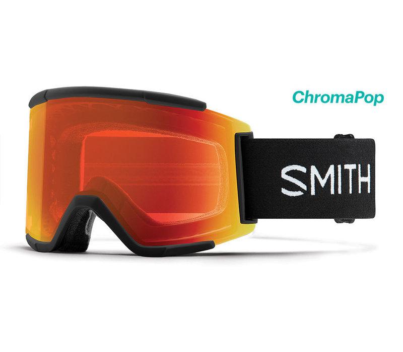 Smith Squad XL Goggle Black Chromapop Everyday Red Mirror