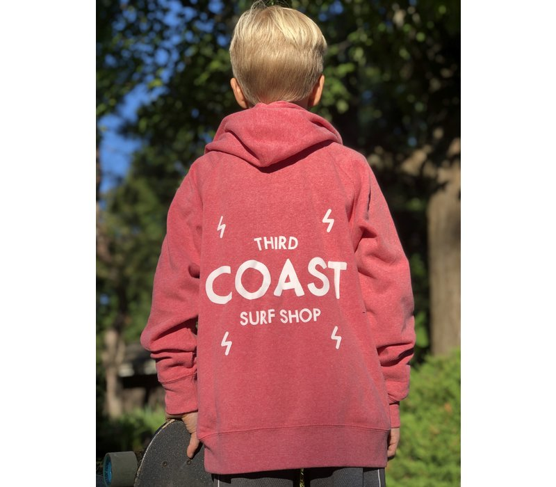 Third Coast Bolts Logo Youth Zip Hoody Pomegranate