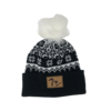 Third Coast Third Coast Fairisle Faux Fur Beanie Black