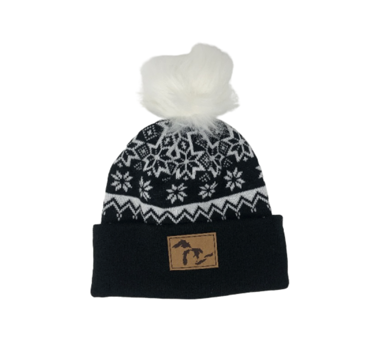 Third Coast Fairisle Faux Fur Beanie Black