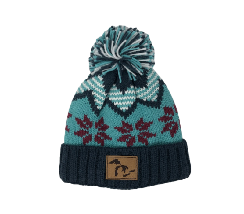 Third Coast Fairisle Knit Beanie Teal