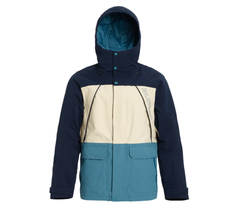 Burton Breach Jacket Dress Blue/Almond Milk/Storm Blue