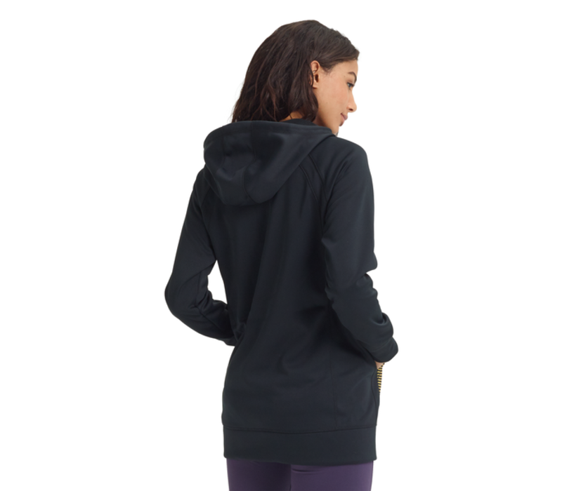 Burton Crown Bonded Long Full-Zip Hoodie True Black/Gradient Spun Out