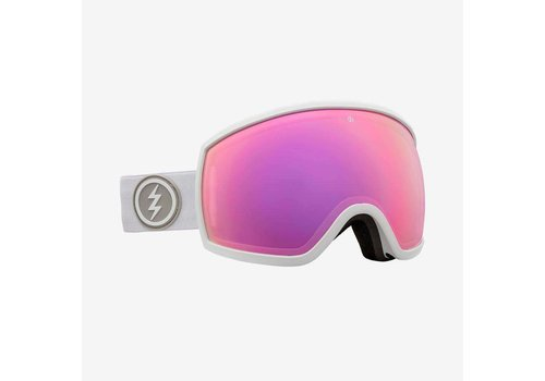 Electric Sunglasses Electric EGG Matte White Brose Pink Chrome