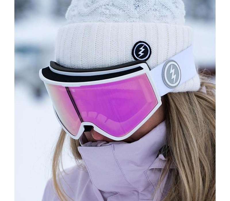 Electric Kleveland+ Gloss White Brose Pink Chrome