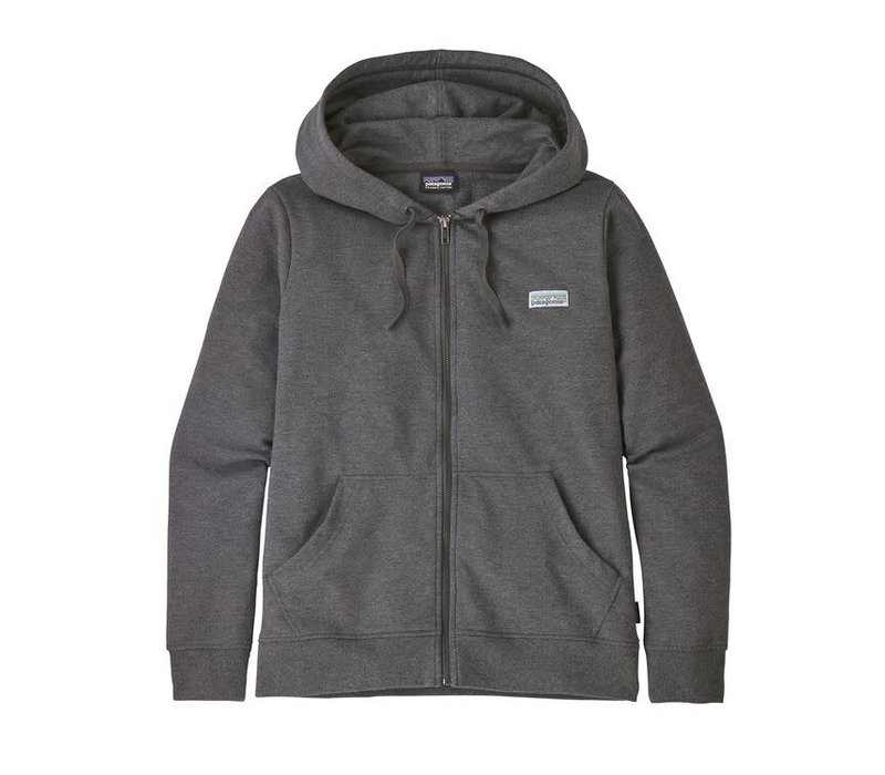 Patagonia W's Pastel P-6 Label Ahnya Full-Zip Hoody Forge Grey