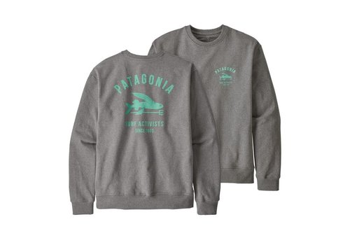 Patagonia Patagonia M's Surf Activists Uprisal Crew Sweatshirt Gravel Heather
