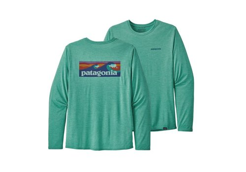 Patagonia Patagonia M's L/S Cap Cool Daily Graphic Shirt Beryl Green X-Dye