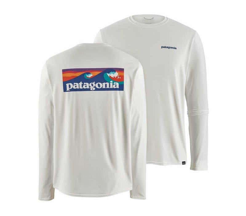 Patagonia M's L/S Cap Cool Daily Graphic Shirt White