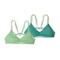Patagonia W's Reversible Seaglass Bay Top Ripple: Bud Green