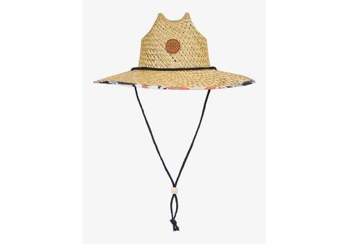 Roxy Pina To My Colada Straw Lifeguard Hat Peach Blush Bright Skies