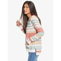 Roxy Airport Vibes Hooded Poncho Snow White