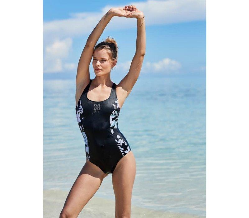 Roxy Fitness Tech One Piece True Black Story of Sunshine