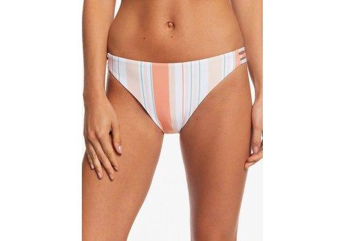 Roxy Roxy Printed Beach Classics Full Bikini Bottoms Bright White True Stripes