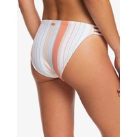 Roxy Printed Beach Classics Full Bikini Bottoms Bright White True Stripes