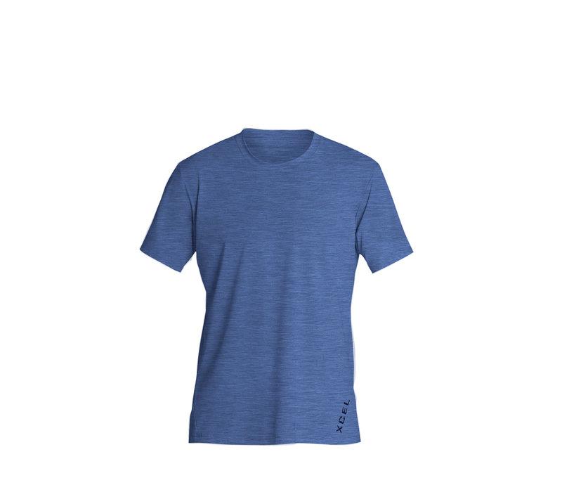 Xcel Heathered Ventx S/S Cascade Blue