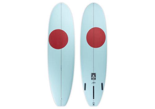 "Third Coast 3rd Coast Surfboards 8'6"" Medicine Man V8 Teal w/Red Dot"