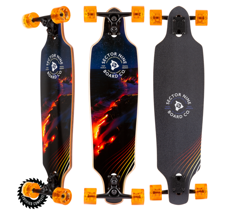 """Sector 9 Lava Roundhouse Complete 34"""" x 8.85"""""""