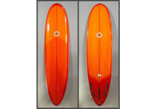 Bing Surfboards Bing 7'10 Collector Applecore Stringer Burnt Orange Tint
