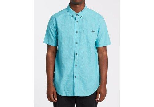 Billabong Billabong All Day Short Sleeve Shirt Dark Mint