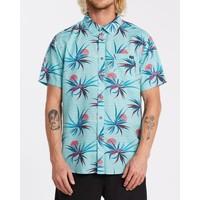 Billabong Sundays Floral Short Sleeve Shirt Light Blue