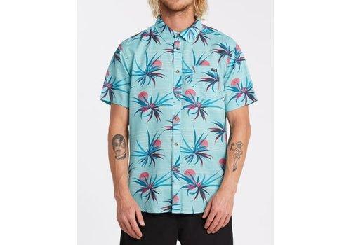 Billabong Billabong Sundays Floral Short Sleeve Shirt Light Blue