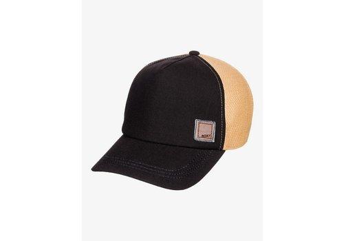 Roxy Roxy Incognito Straw Trucker Hat Anthracite