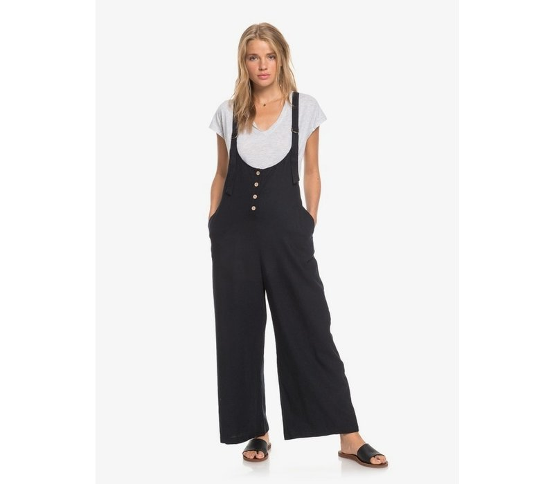 Roxy Pink Frost Dungaree-Style Jumpsuit Anthracite