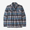 Patagonia Patagonia Men's Long-Sleeved Fjord Flannel Shirt Plots: Pigeon Blue