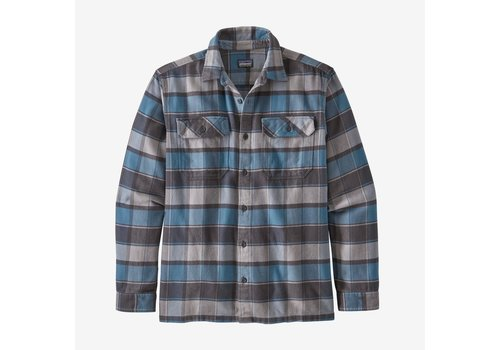 Patagonia Patagonia Men's Long-Sleeved Fjord Flannel Shirt Plots: Pigeon Blue