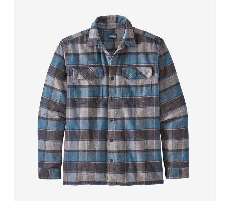 Patagonia Men's Long-Sleeved Fjord Flannel Shirt Plots: Pigeon Blue