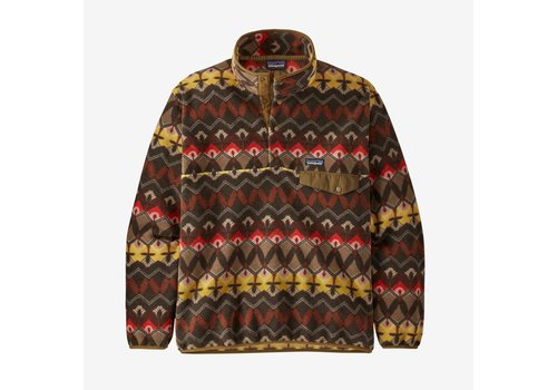 Patagonia Men's Lightweight Synchilla® Snap-T® Fleece Pullover - Companions Big: Logwood Brown