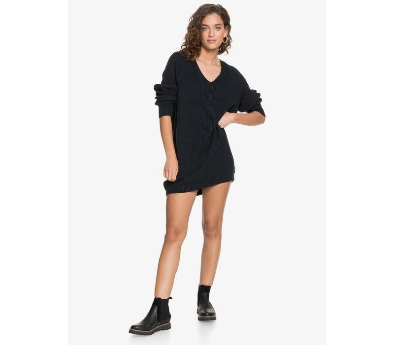 Roxy Baby Crush Oversized Jumper Dress Anthracite