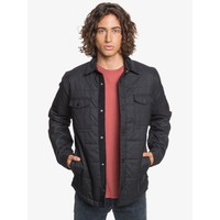 Quiksilver Broken Nose Quilted Overshirt Black