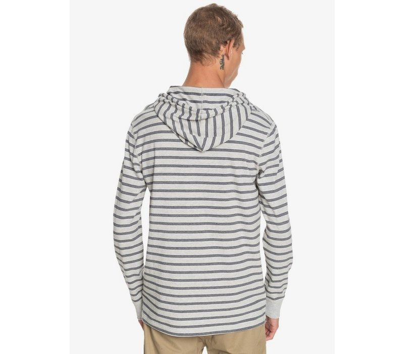 Quiksilver Zermet Long Sleeve Hooded Top Light Grey Heather