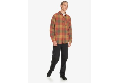 Quiksilver Quiksilver Motherfly Flannel Long Sleeve Shirt Henna