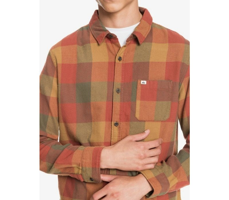 Quiksilver Motherfly Flannel Long Sleeve Shirt Henna