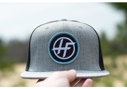 Hyperflex Hyperflex Heather Gray/Black Patch Trucker Hat