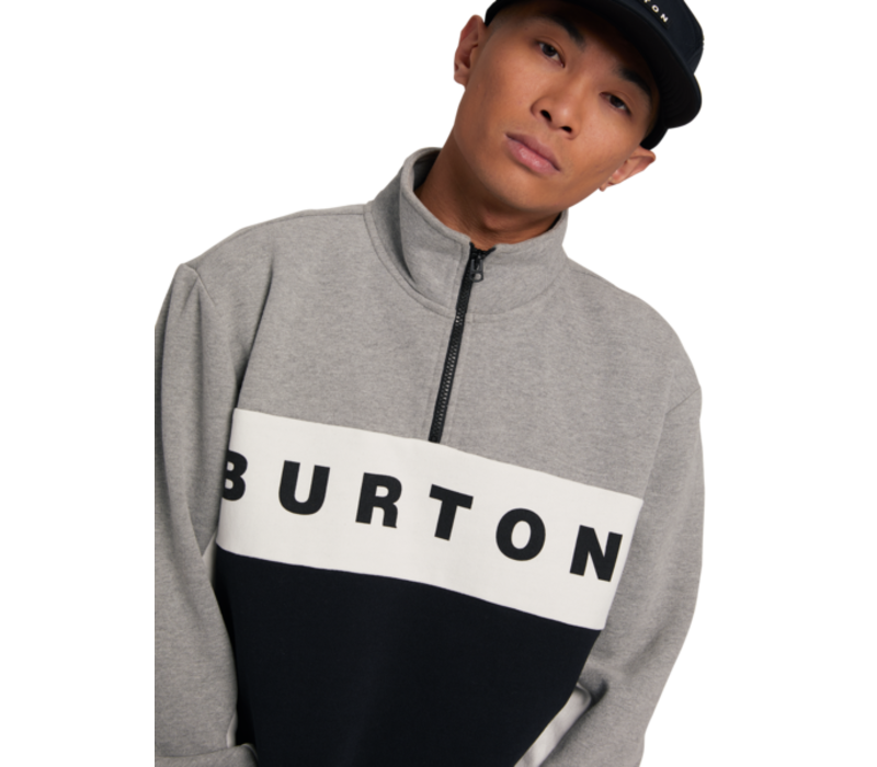 Burton M's Lowball 1/4 Zip Gray Heather True Black