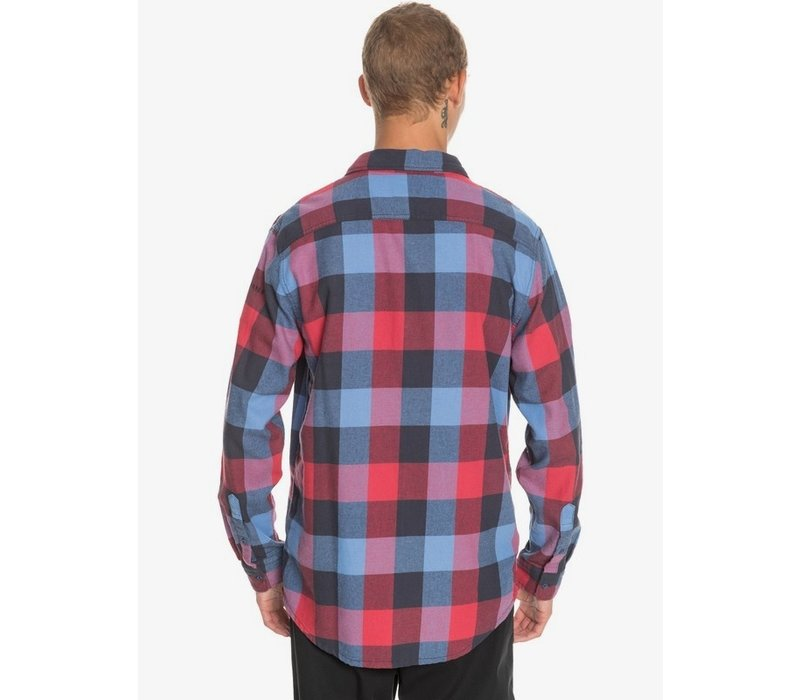 Quiksilver Motherfly Flannel Long Sleeve Shirt Persian Night Motherfly