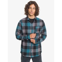 Quiksilver Motherfly Flannel Long Sleeve Shirt Blue Coral Motherfly