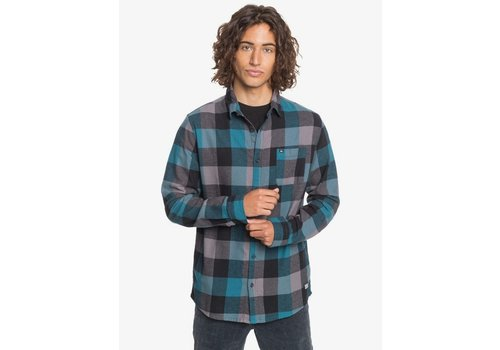 Quiksilver Quiksilver Motherfly Flannel Long Sleeve Shirt Blue Coral Motherfly