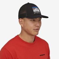 Patagonia Line Logo Ridge LoPro Trucker Hat Black